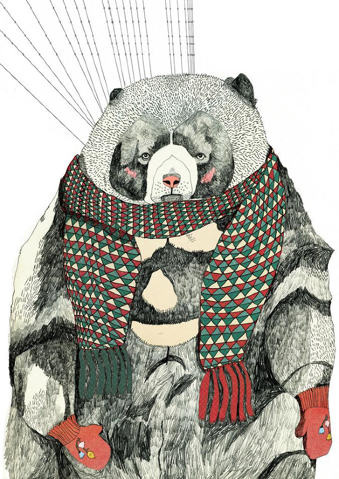 Julia Pott's bear for Small Magazine