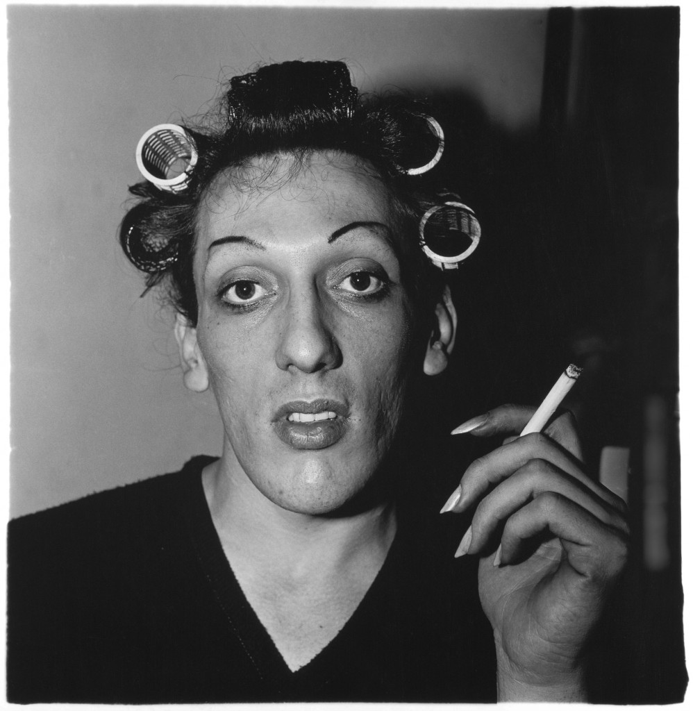 A young man in curlers at home on West 20th Street, N.Y.C. 1966