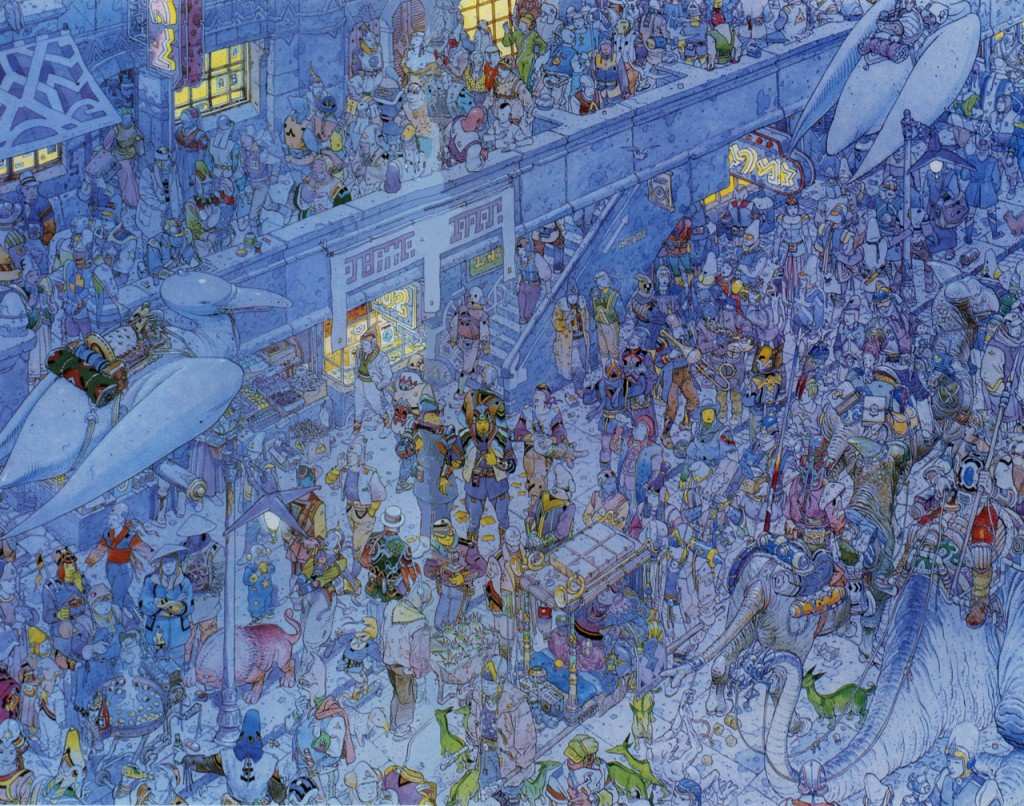Jean Giraud aka Moebius - Crowded Streets