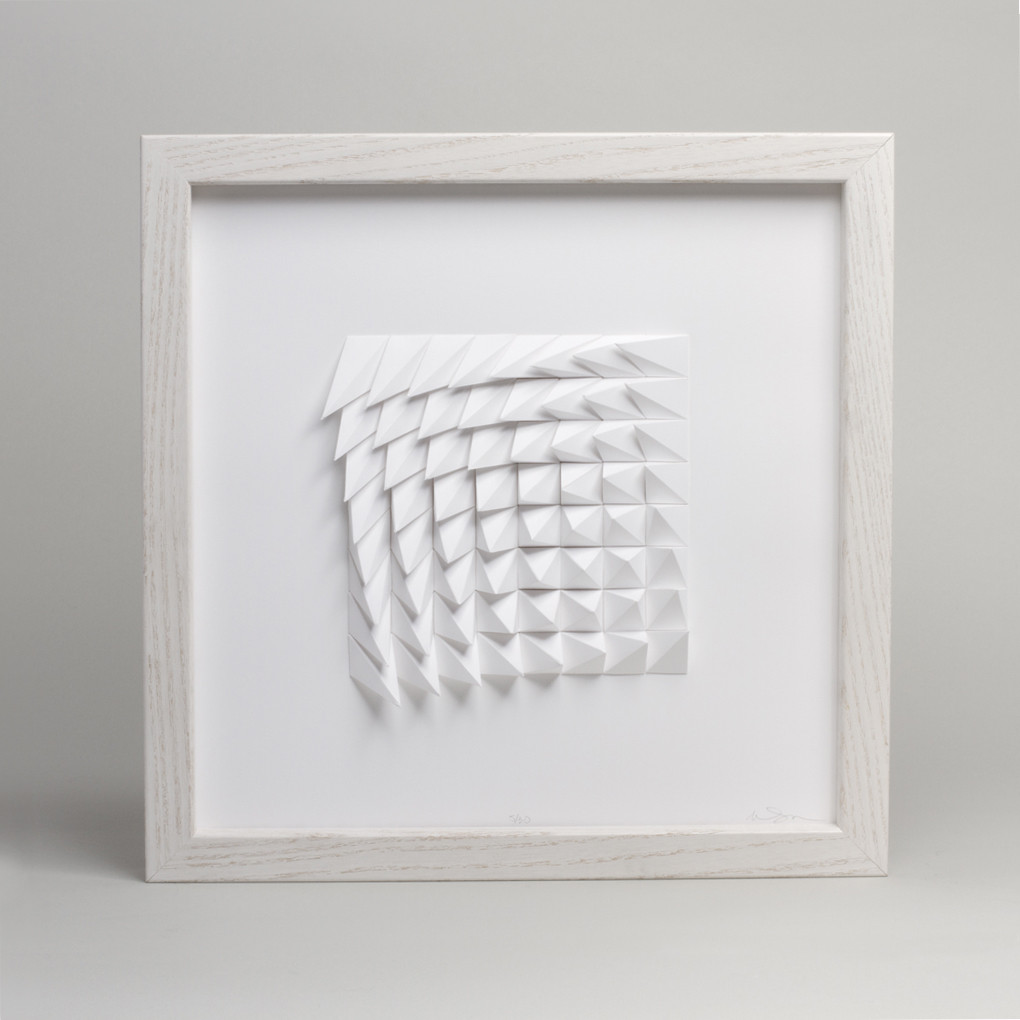 Extraction Series - Rotated - White  Matthew Shlian