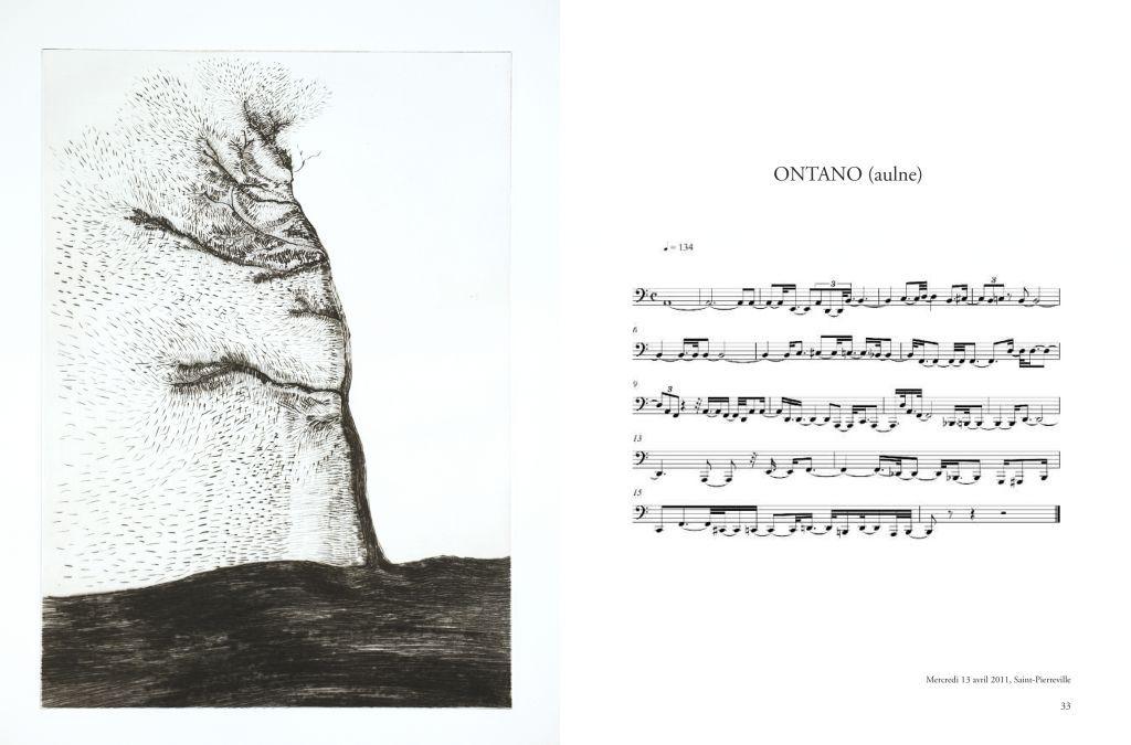 Giuseppe Penone - (Bernard Chauveau Editeur) Transcription musicale (image via BCE)