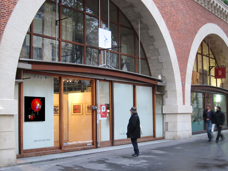 Lumiere Series No 4. - view from the outside -Gallery 89. 2012 (Photos courtesy of NOH Kyunghwa)