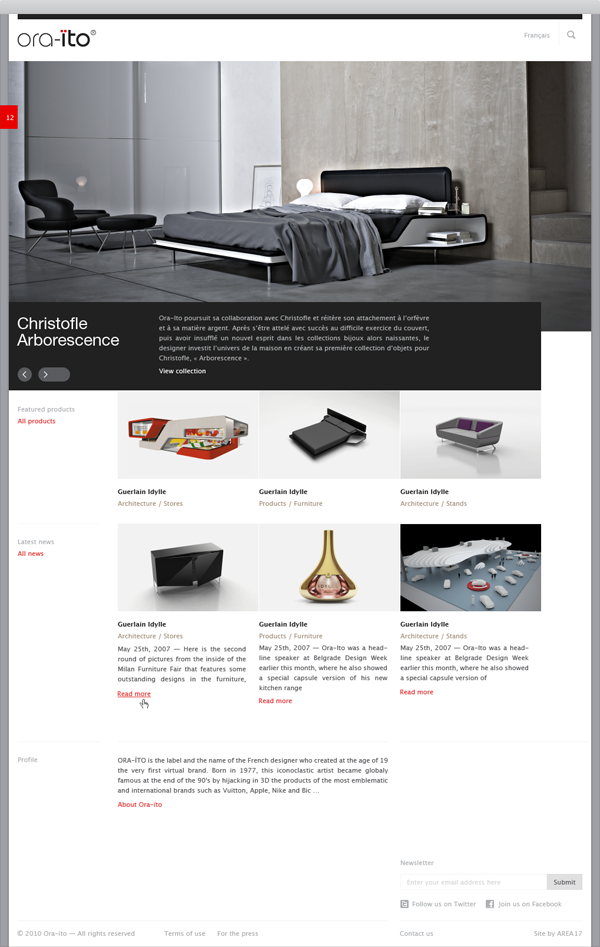 Ora-Ito website