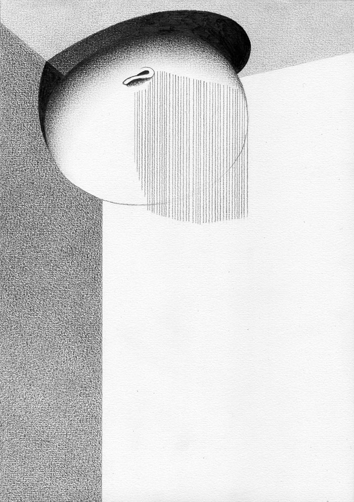 Killoffer, untitled, pencil drawing, Courtesy of Gallery Anne Barrault
