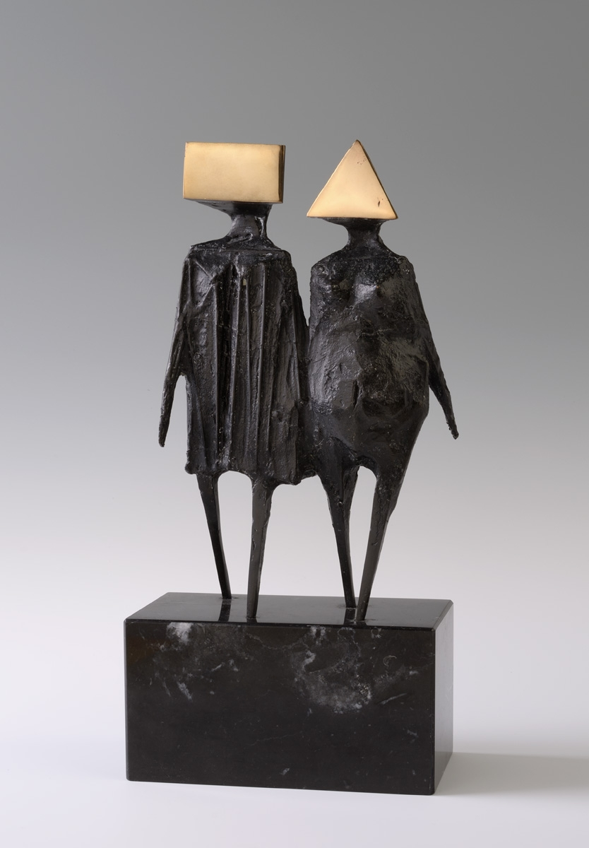 Lynn Chadwick - Maquette VI Walking Couple - (1976 via Alan Wheatley Art)