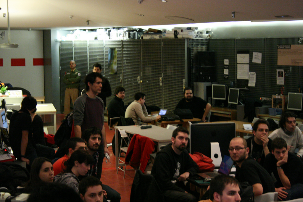 Still from Madrid Game Jam 2011 (photo via MediaLab Prado)