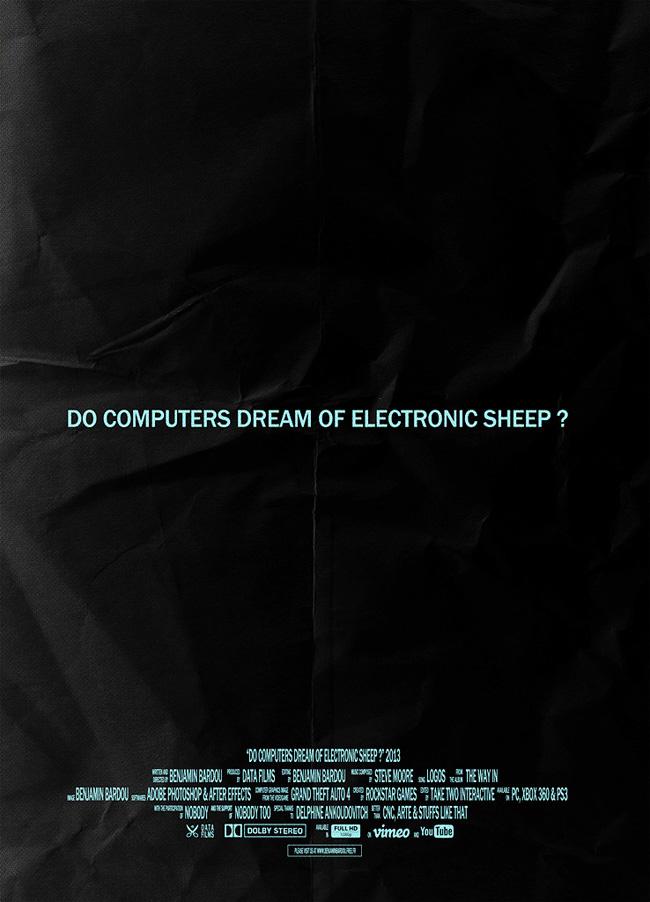 Do computers dream of electronic sheep? - Poster (image via Benjamin Bardou)