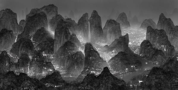 Yang Yongliang, 'Sleepless Wonderland' (2012).