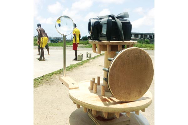 Karimah Ashadu, 'Rotate 1 Mechanism' - as used in 'Apapa Amusement Park'. (2013). Image courtesy of the artist.
