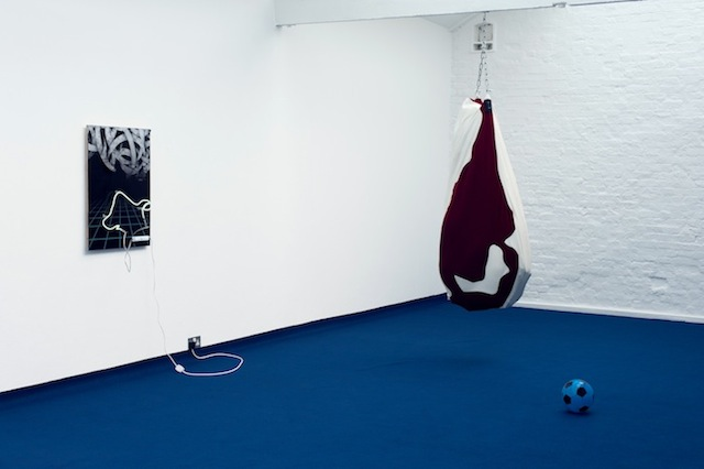 Florian Auer, Babies Are Born At Night (2013) Installation View.