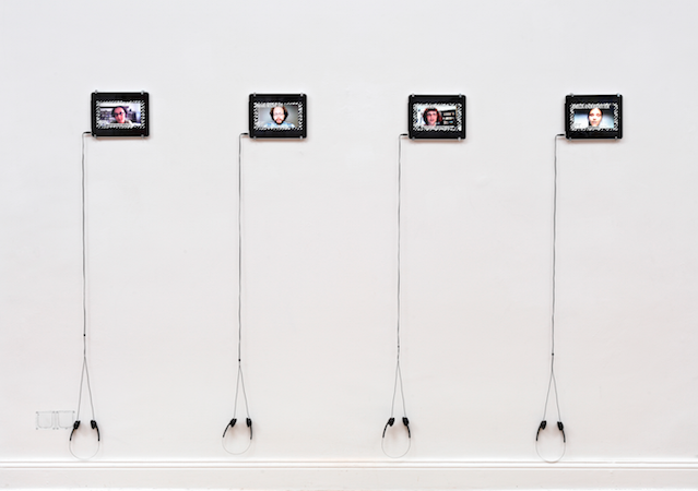 'Black Transparency' interviews (2013).  Installation view, image courtesy Future Gallery.