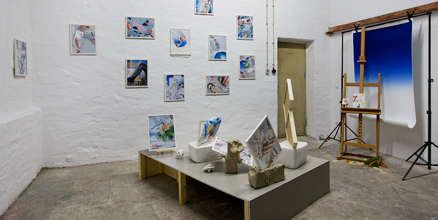 'Open for Business', studio instalation view. Image courtesy Neumeister Bar-Am..