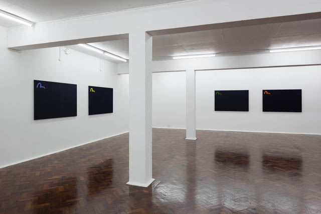 Dean Blunt, New Paintings (2014) @ [ space ]. Courtesy the gallery.