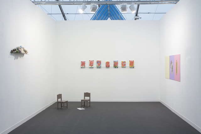 Morag Keil installation view @ Frieze London 2014. Courtesy Real Fine Arts.