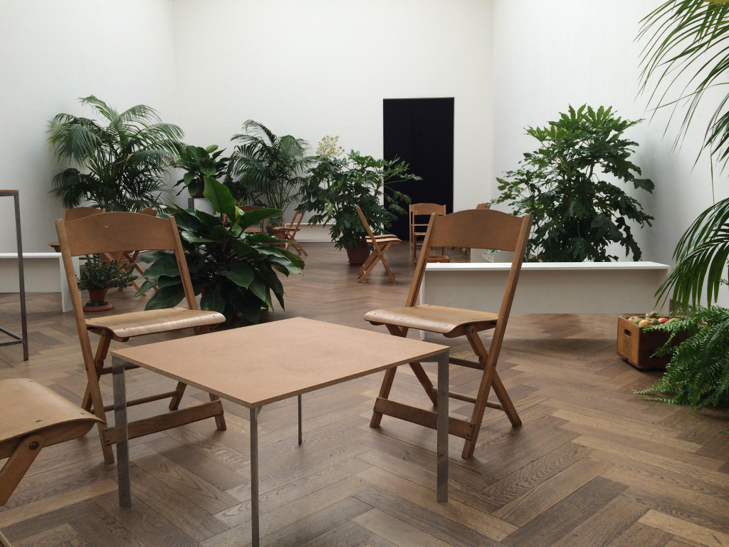 Decoration for an occasion at Kunsthalle Basel, October 2015. Courtesy the artist.