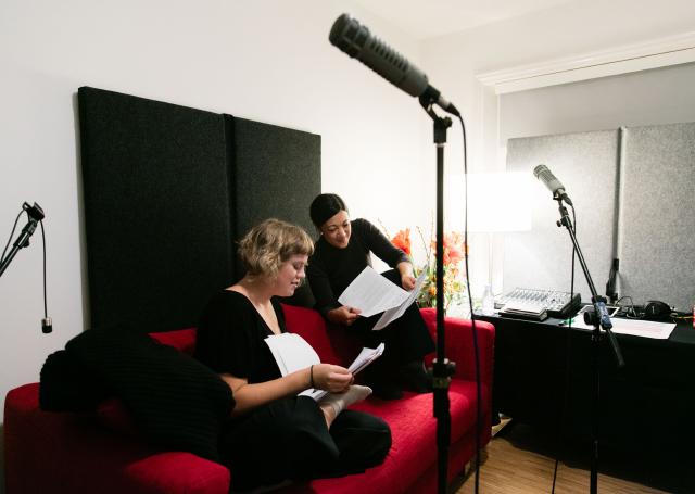 Rebecca Lewin and Gil Leung @ Transformation Marathon on Serpentine Radio (2015). Courtesy Serpentine Galleries, London.