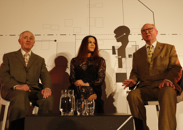 Gilbert & George and Victoria @ the Transformation Marathon (2015). Photo by Plastiques. Courtesy Serpentine Galleries, London.