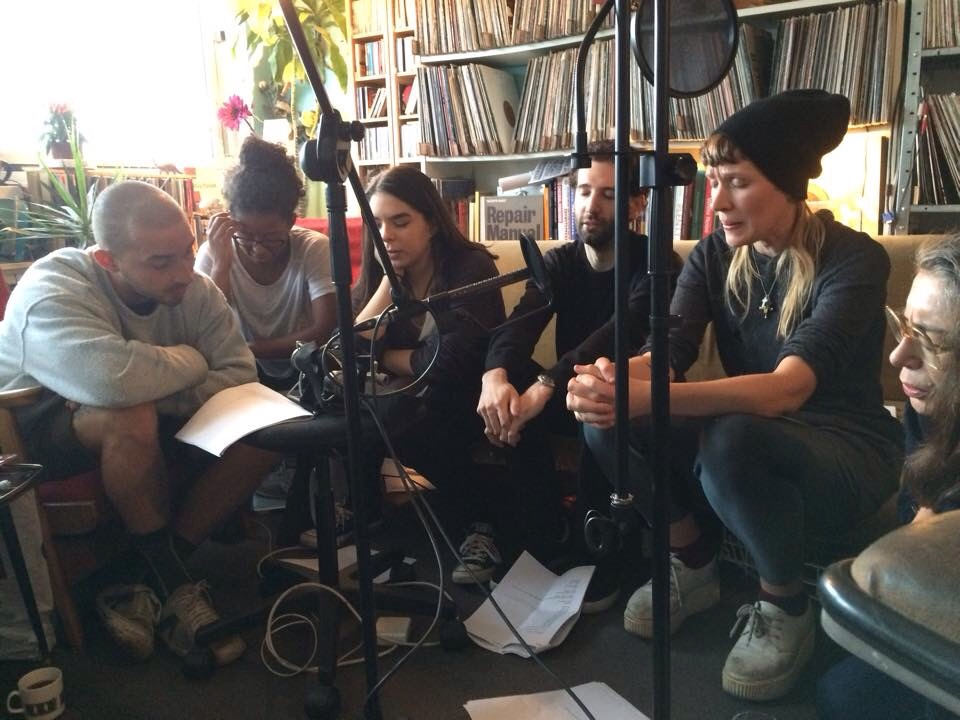 Left to right: Taylor LeMelle, Jesse Darling, Penny Goring, Siena Currie. The making of NTGNE.