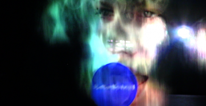 Harry Sanderson, 'F_R (flexibledisplay)' (2013.) Still from documentation. Video installation.