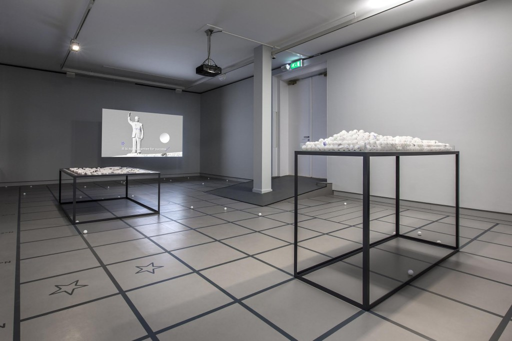 Foundland, Failed Futures & Extended Borders (2015) @ Prix de Rome, de Appel, Amsterdam. Exhibition view. Photo by Daniel Nicolas. Courtesy the artists.