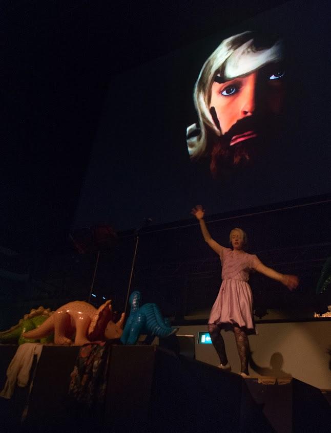 Jennifer Walshe, 'Total Mountain' (2014). Performance view. . Photo by Danilo Moroni. Courtesy LCMF, London.
