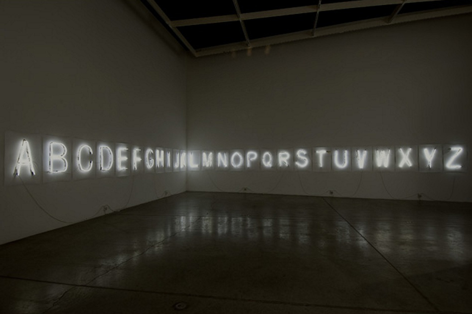 Fiona Banner, 'Every Word Unmade' (2007). Installation view. Courtesy DRAF, London.