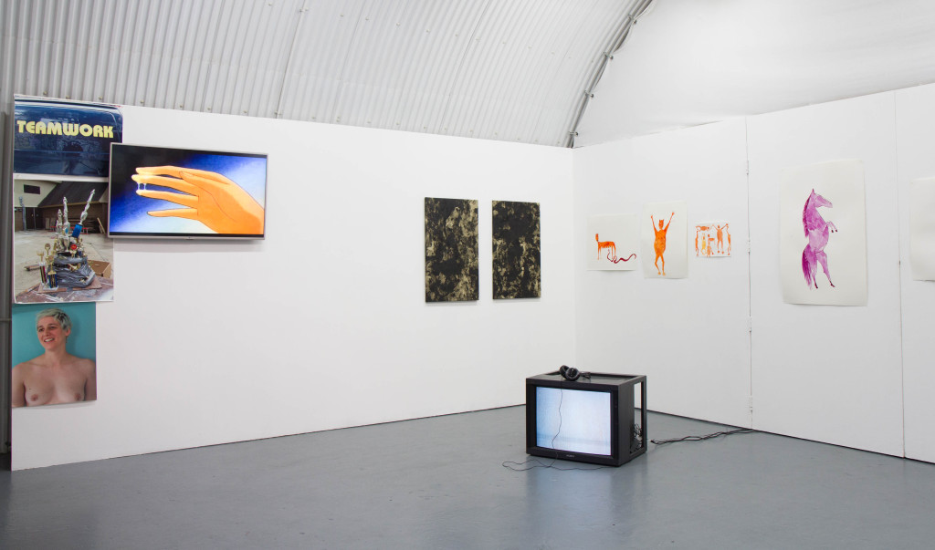 A.L. Steiner, Greatest Hits, Phoebe Collings-James, 'Tar Baby #7 + 8' (2015), 'Safe Passage:Get Home Safe' (2016). Courtesy Arcadia Missa, London.