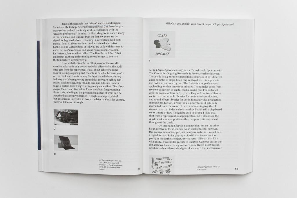 A Lunch Bytes Anthology - No Internet, No Art (20(ed. Melanie Buehler). Published by Onomatopee, 2015.