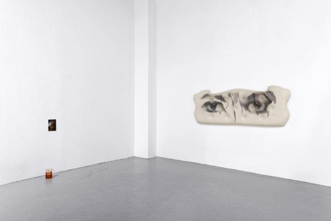 Jack Lavender + Isaac Lythgoe, Never Land Alone (2016). Exhibition view. Courtesy Exo Exo + Galerie Eric Hussenot, Paris.