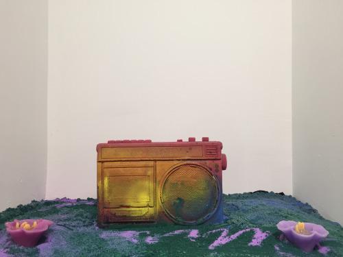 Martha Mysko, 'Dead Air, Pink Noise' (2016). Installation view. Courtesy the artist