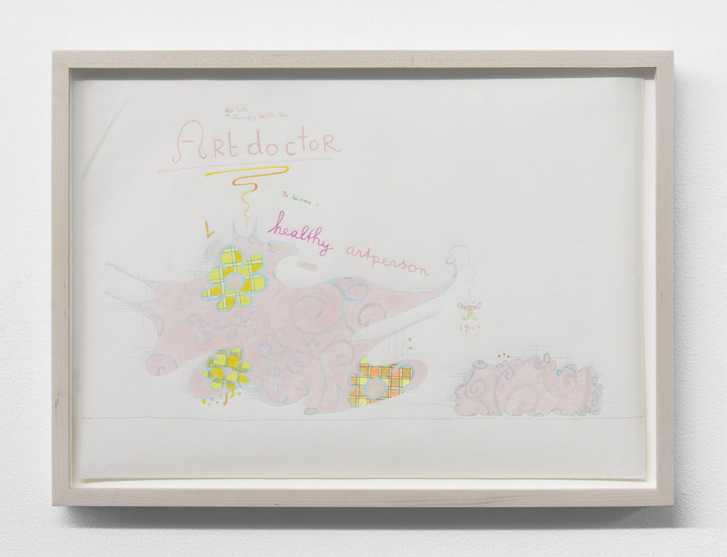 Lily van der Stokker, 'Artdoctor' (2007). Courtesy the artist + Bodega, New York.